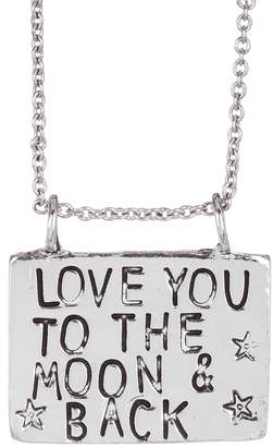 Alisa Michelle Silver Love You To The Moon And Back Necklace