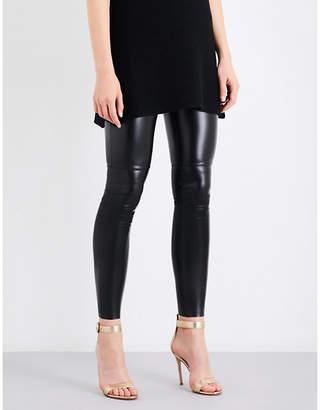Wolford Estella faux-leather leggings