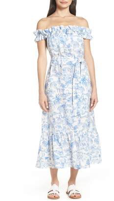 Tory Burch Off the Shoulder Cover-Up Dress