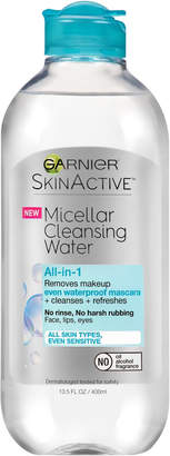 Garnier SkinActive Micellar Cleansing Water All-in-1 Cleanser & Waterproof Makeup Remover $8.99 thestylecure.com