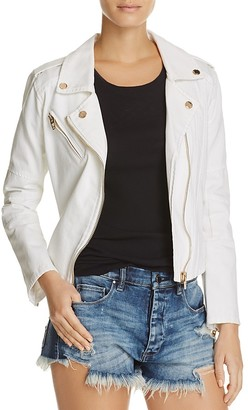 BLANKNYC White Denim Moto Jacket - 100% Exclusive $98 thestylecure.com