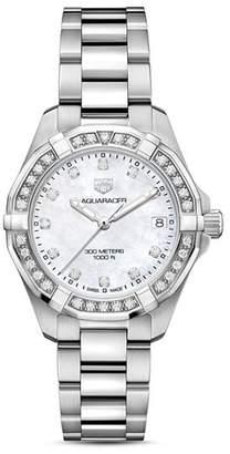 Tag Heuer Aquaracer Diamond Bezel Watch, 32mm