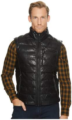 Scully Noah Soft Like Butta Leather Ribbed Vest Men's Coat