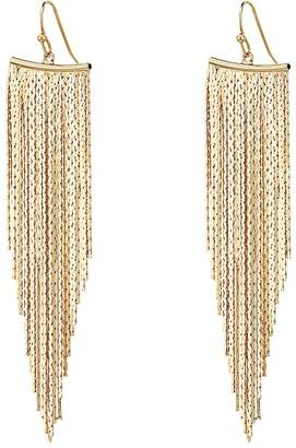 Kenneth Jay Lane Polished Gold Fringe Earrings Earring