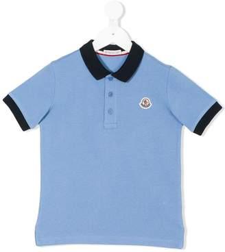 Moncler contrast collar polo shirt