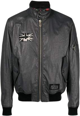 Belstaff flag patch bomber jacket