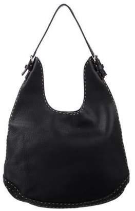 Fendi Selleria Leather Hobo Black Selleria Leather Hobo