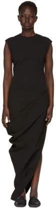 Rick Owens Black Grosgrain Walrus Dress