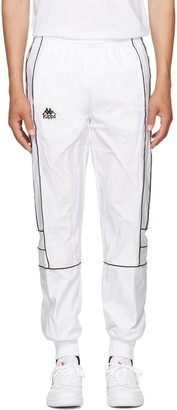 Kappa SSENSE Exclusive White Windbreaker Track Pants $110 thestylecure.com