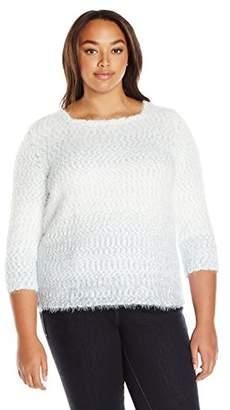 Alfred Dunner Women's Ombre Eyelash Sweater