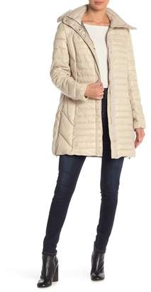 Kenneth Cole New York Quilted Removable Hood Coat