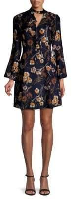 Derek Lam Cascade Silk-Blend A-Line Dress