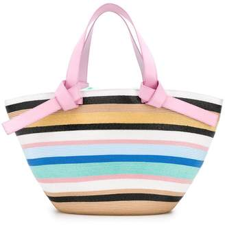 f07533311 Emilio Pucci Multicolour Raffia Stripe Beach Tote Bag