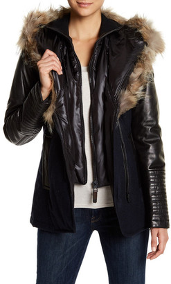 Rudsak Genuine Leather & Wolf Fur Trimmed Jacket $790 thestylecure.com
