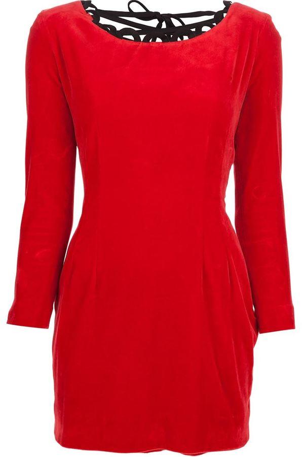 Moschino Vintage corset fastening dress