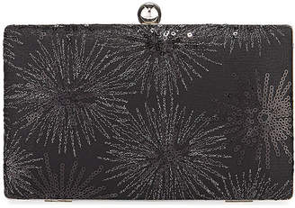 Neiman Marcus Sequin Burst Box Evening Clutch Bag