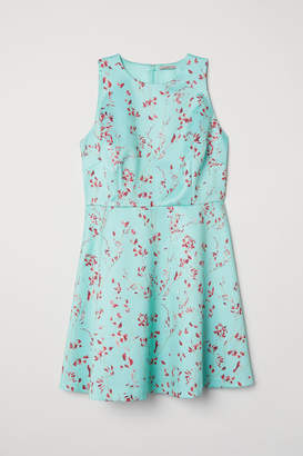 H&M Patterned Satin Dress - Green