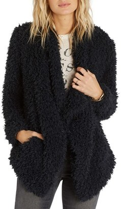 Billabong Do It Fur Love Faux Fur Jacket $129.95 thestylecure.com