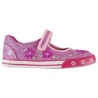 Miso Kids Girls Beaded Ballet Pumps Child Canvas Forefoot Strap Glitter Touch