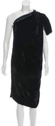 Lanvin Velvet One-Shoulder Dress