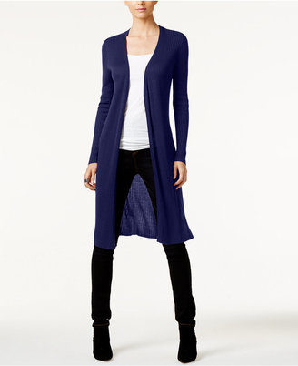 INC International Concepts Ribbed Duster Cardigan, Only at Macy's $79.50 thestylecure.com