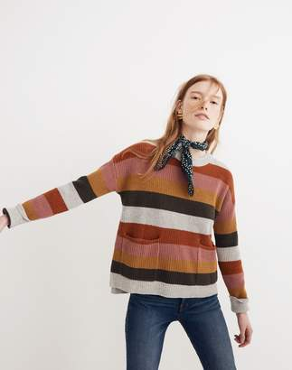 Madewell Patch Pocket Pullover Sweater in Walton Stripe
