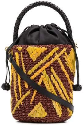 Aranaz patterned wicket basket bag