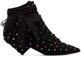 black Blaze 45 crystal embellished suede boots
