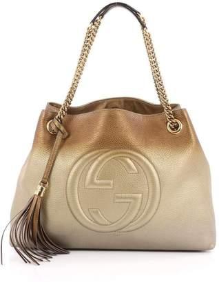 Gucci Soho Shoulder Ombre Chain Strap Medium Copper/Silver/Gold