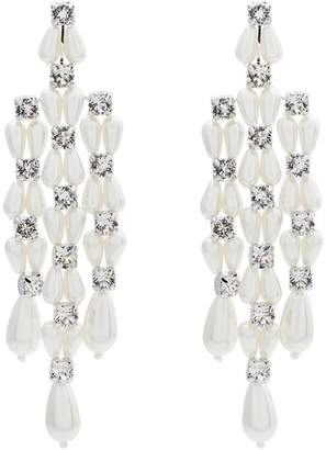 Simone Rocha faux pearl and crystal drop earrings