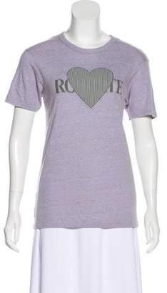 Rodarte Short Sleeve Knit Top