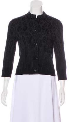 Salvatore Ferragamo Knit Patterned Cardigan