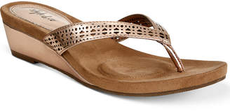 Style&Co. Style & Co. Haloe Wedge Thong Sandals, Created for Macy's Women's Shoes