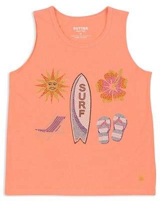 Butter Shoes Girls' Embellished Surf Beach Tank - Big Kid