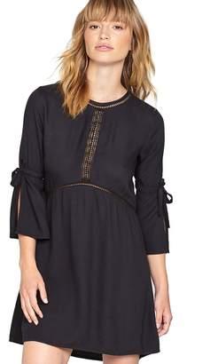 Amuse Society On The Go Lace Inset Split Sleeve Dress