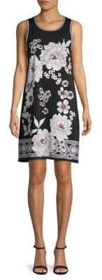 Max Studio Floral Trapeze Shift Dress