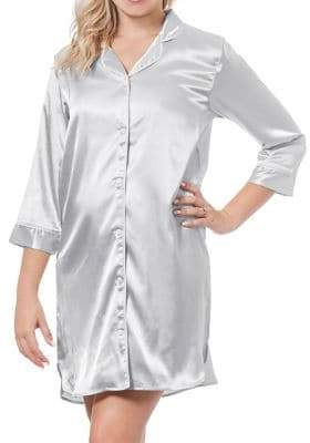 Cathy's Concepts Wedding Team Bride Satin Nightshirt
