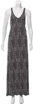 Joie Sleeveless Printed Maxi Dress
