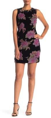 Modern American Designer Floral Burnout Trapeze Dress