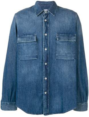 President's President'S flap pocket denim shirt