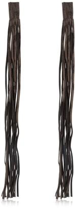 Saskia Diez Leather Fringe Earrings