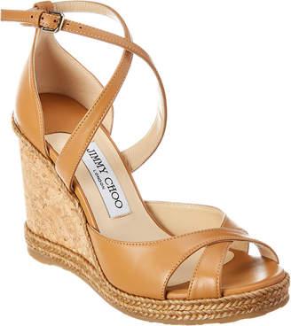Jimmy Choo Alanah 105 Leather Wedge Sandal