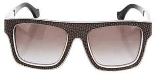Balenciaga Embossed Tinted Sunglasses