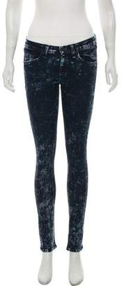 Rag & Bone Acid Wash Mid-Rise Jeans