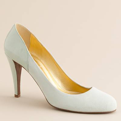 Harper suede-and-patent platform heels