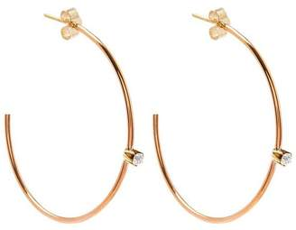 Annina Vogel Gold Diamond Hoop Earrings