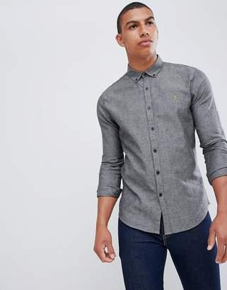Farah Steen slim fit textured shirt in gray