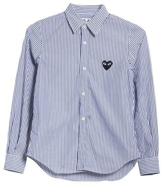 Comme des Garcons Heart Stripe Shirt