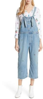 The Great The Shop Embroidered Overalls