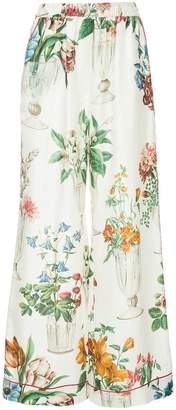 Dolce & Gabbana floral palazzo trousers